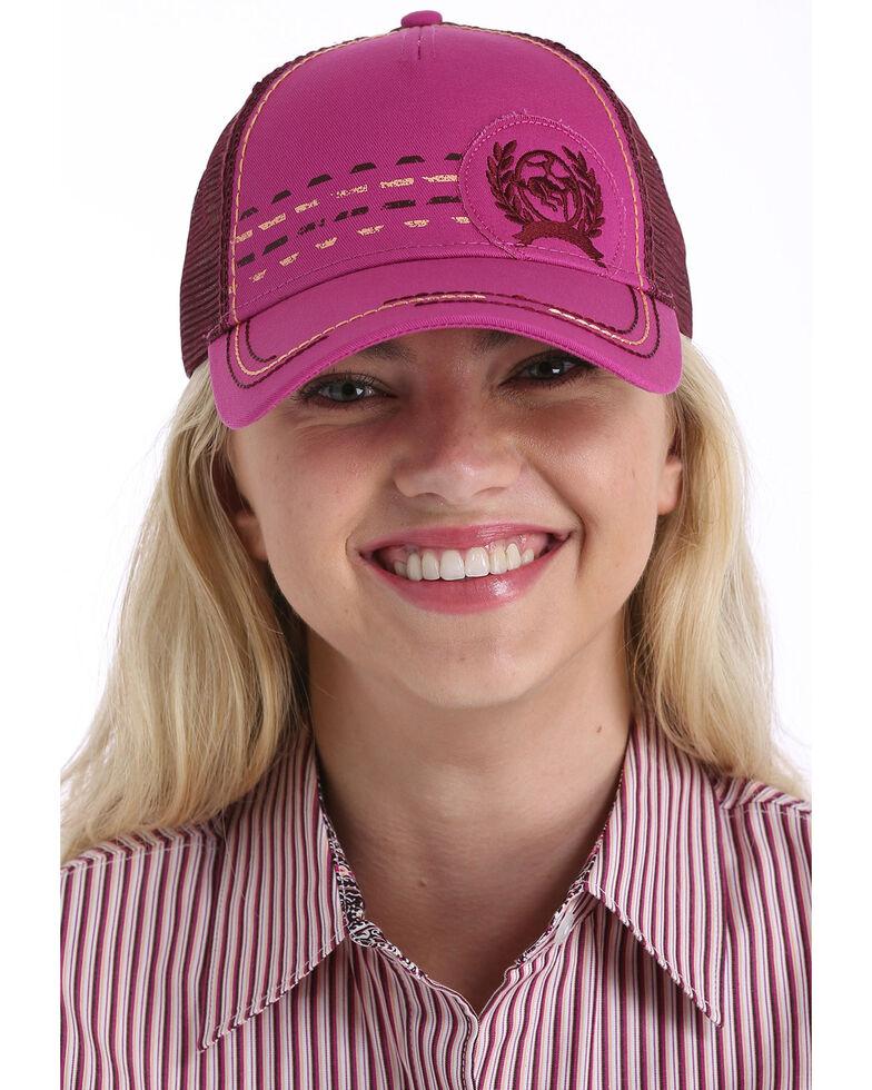 Cinch Women's Pink Trucker Ball Cap , Pink, hi-res