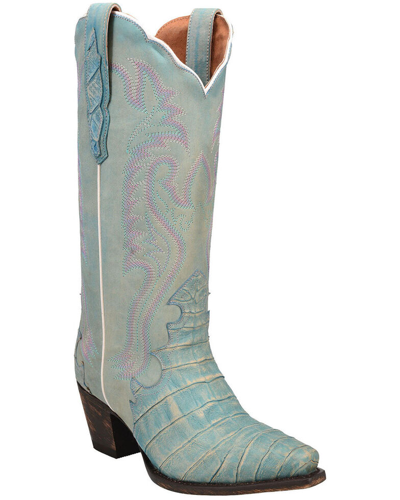 Dan Post Women's Remy Western Boots - Snip Toe, Blue, hi-res