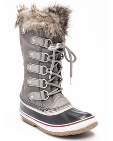 Sorel Women's Joan Of Arctic Waterproof Outdoor Boots - Round Toe, Grey, hi-res