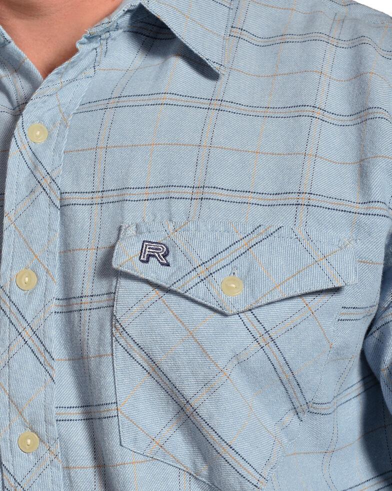 Resistol Men's Blue Varnell Checkered Print Long Sleeve Western Shirt , Light Blue, hi-res