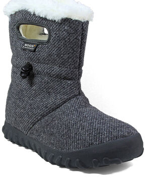 Bogs Women's Wool Insulated Boots - Round Toe, Grey, hi-res