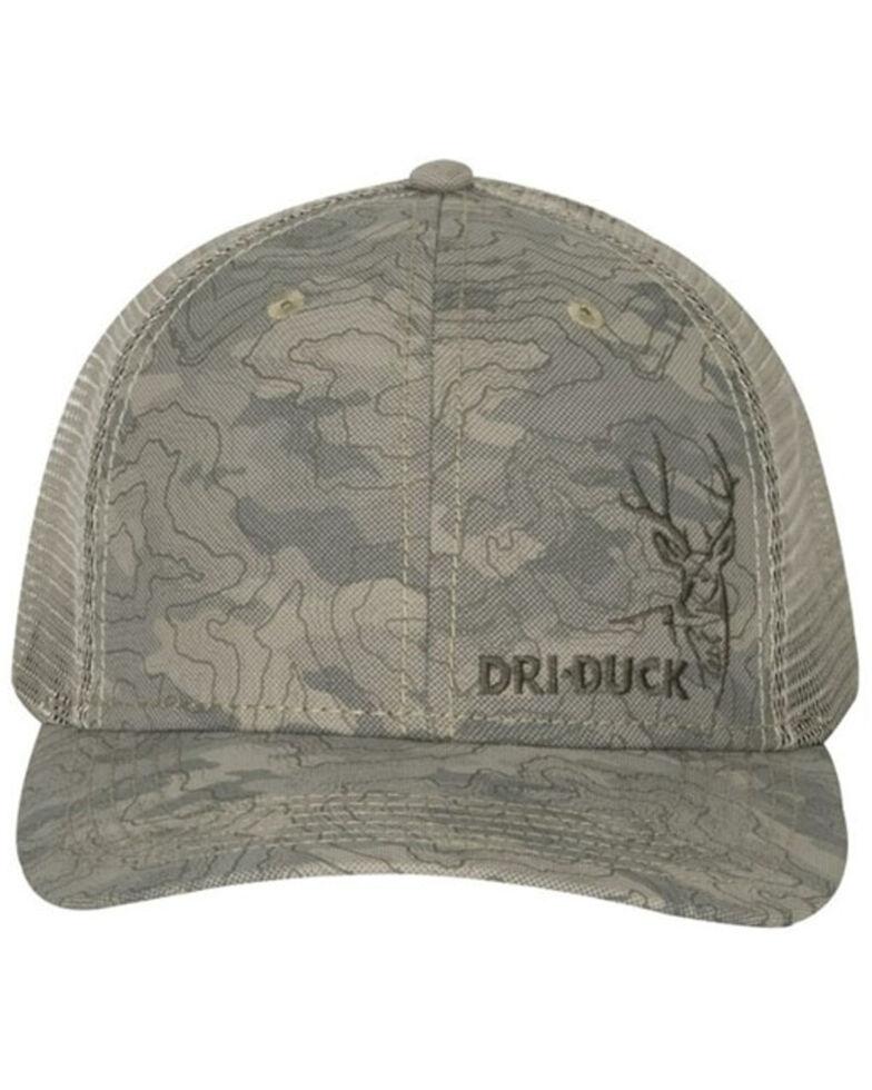 Dri-Duck Men's Khaki Buck Logo Territory Mesh-Back Trucker Tap , Tan, hi-res