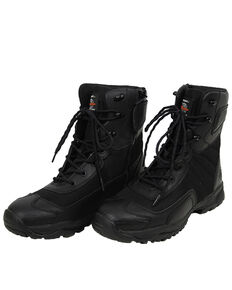 Milwaukee Motorcycle Clothing Co. Men's Commander Moto Boots - Round Toe, Black, hi-res