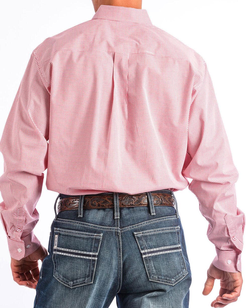 Cinch Men's Red Checkered Print Shirt , Red, hi-res