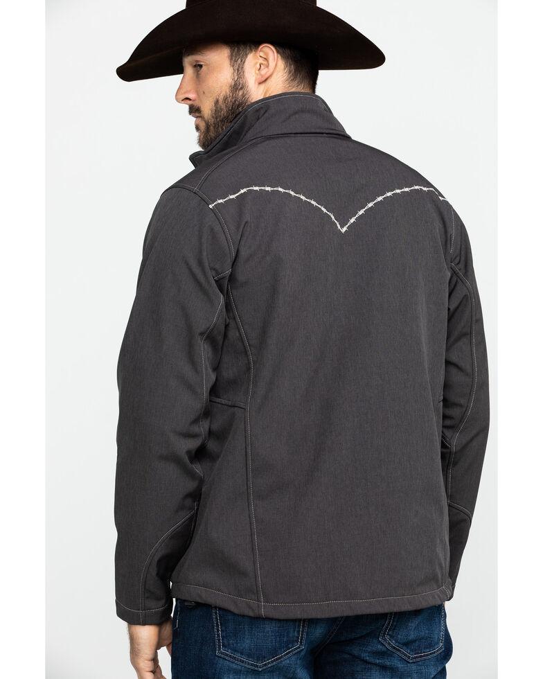 Cowboy Hardware Men's Brown Barbed Poly Bonded Jacket , Brown, hi-res