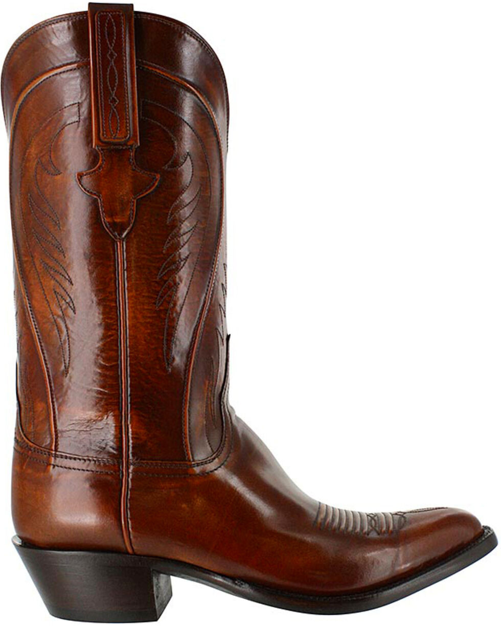 Lucchese Men's Classic Embroidered Western Boots, Tan, hi-res