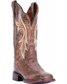 21de1c62a37 Dan Post Women s Reign Chestnut Cowgirl Certified Western Boots - Square Toe