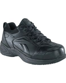 Reebok Women's Jorie Athletic Jogger Work Shoes - Composite Toe, Black, hi-res