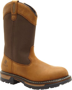 Rocky Men's Ride Insulated Waterproof Wellington Boots, Brown, hi-res