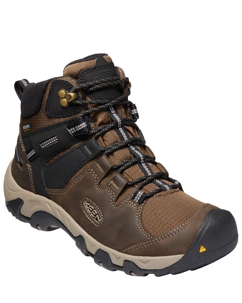 Keen Men's Steens Waterproof Hiking Boots - Soft Toe, Black, hi-res