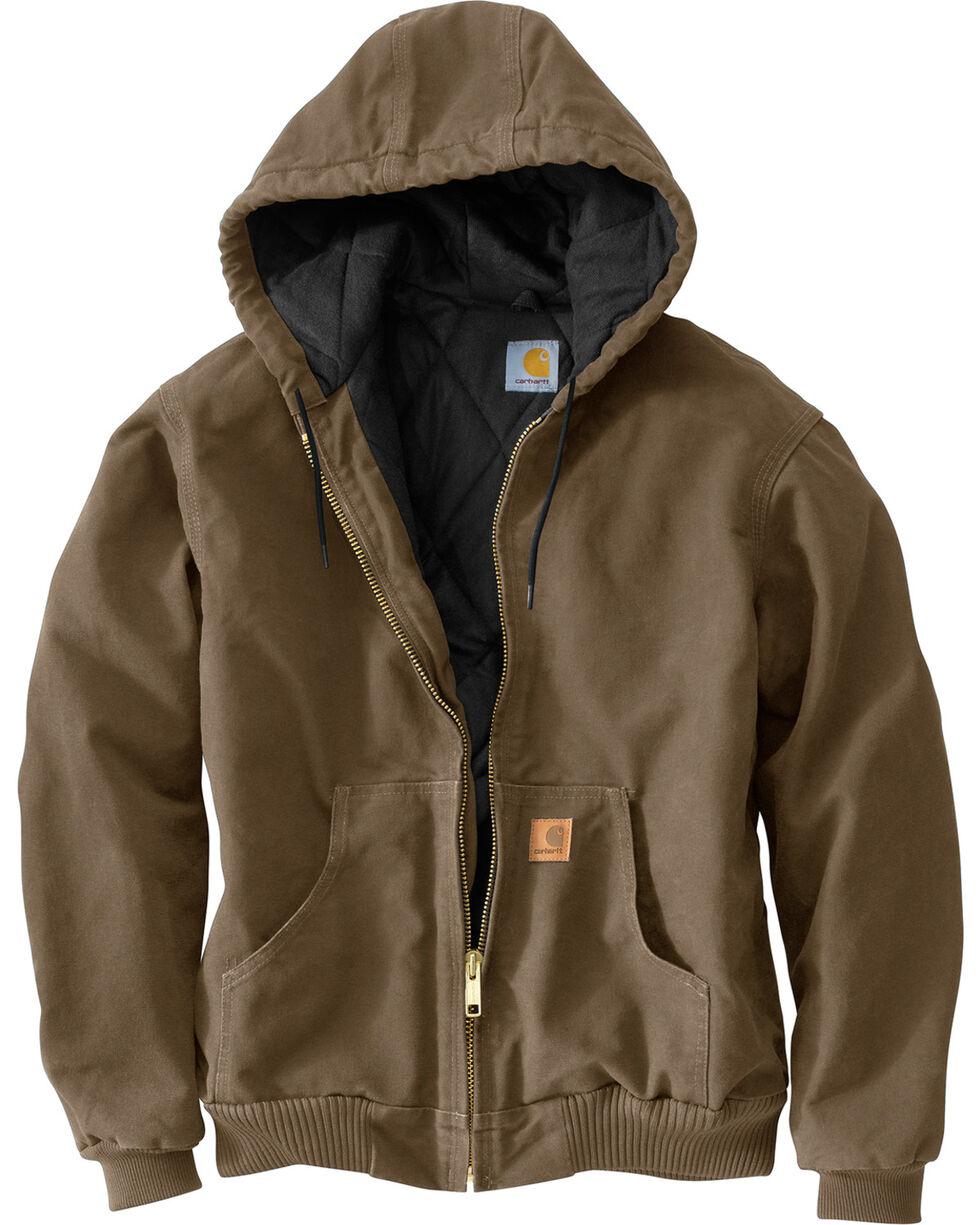 Carhartt Men's Sandstone Flannel Lined Active Jacket, Light Brown, hi-res