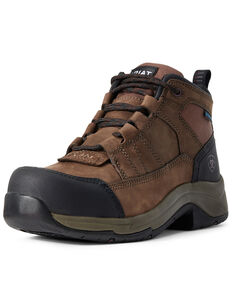 Ariat Women's Telluride Waterproof Work Boots - Composite Toe, Brown, hi-res