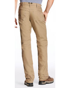 Ariat Men's Rebar M4 Stretch Canvas Straight Leg Work Pants - Big , Beige/khaki, hi-res