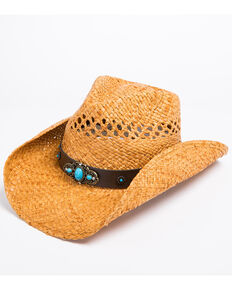 Shyanne Women's Jade Crochet Cowgirl Hat, Brown, hi-res