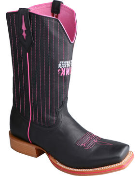 Twisted X Men's Tough Enough Red River Western Boots, Black, hi-res