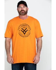 Hawx® Men's Original Eye Graphic Work T-Shirt , Heather Orange, hi-res