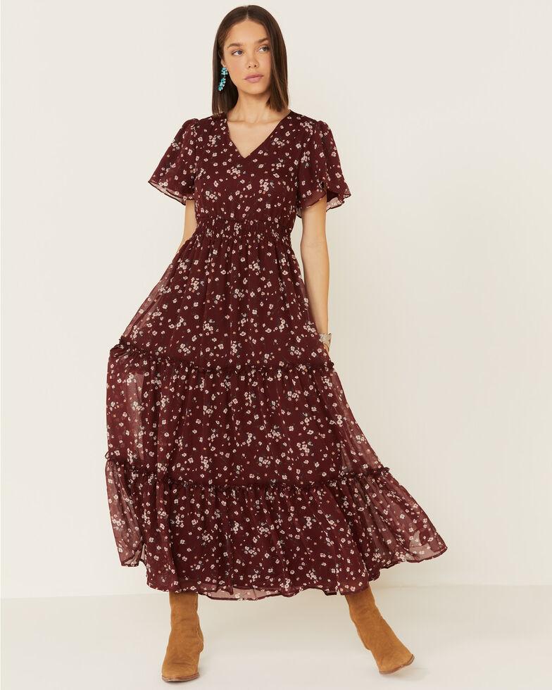 Mikarose Women's Wine Eden Dress, Wine, hi-res