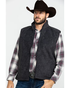 Outback Trading Co. Men's Charcoal Oregon Vest , Charcoal, hi-res