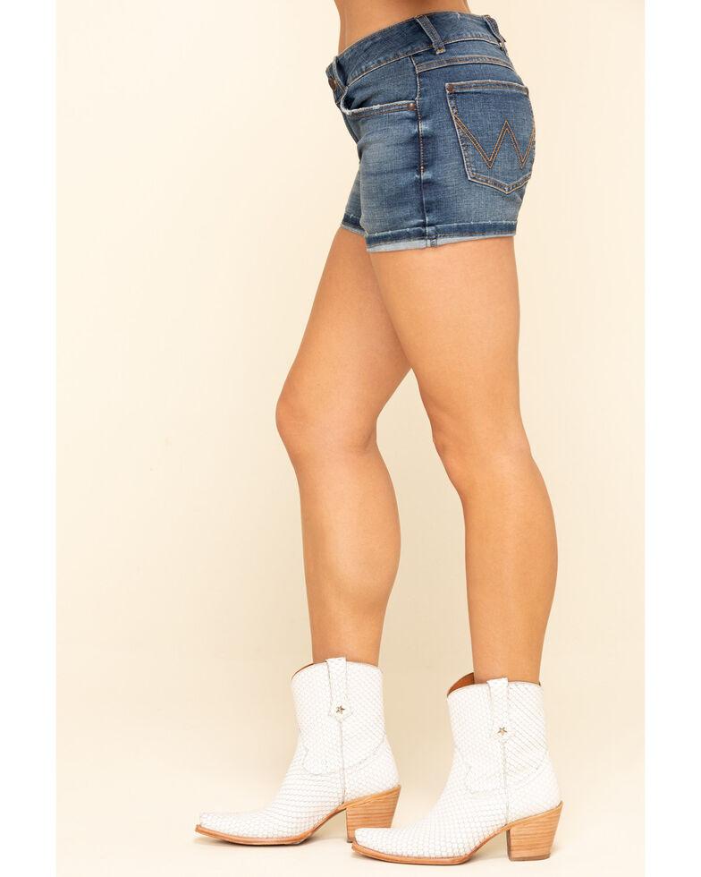 Wrangler Retro Women's Jessica Mid Rise Shorts, Blue, hi-res