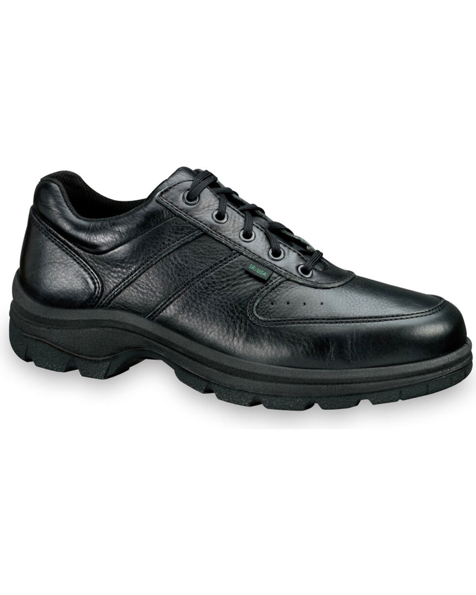 Thorogood Men's SoftStreets Postal Certified Oxfords, Black, hi-res