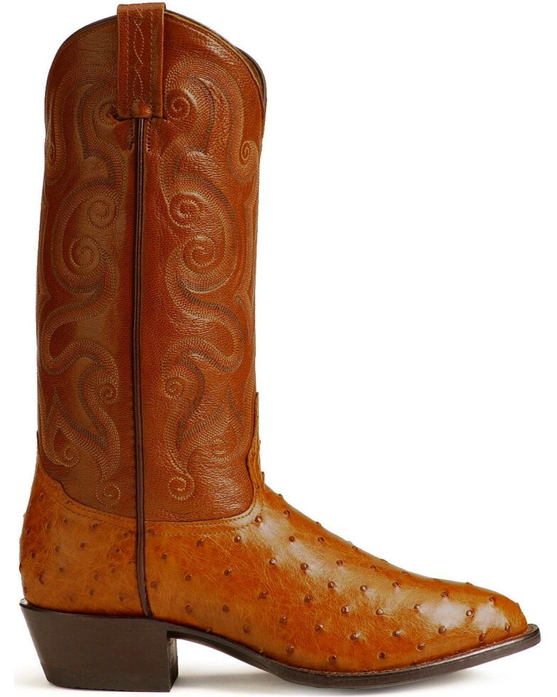 "Tony Lama Men's 13"" Exotic Western Boots, Peanut Brittle, hi-res"