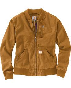 Carhartt Women's Crawford Bomber Jacket, Pecan, hi-res