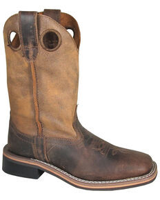 Smoky Mountain Youth Boys' Waylon Western Boots - Square Toe, Distressed Brown, hi-res