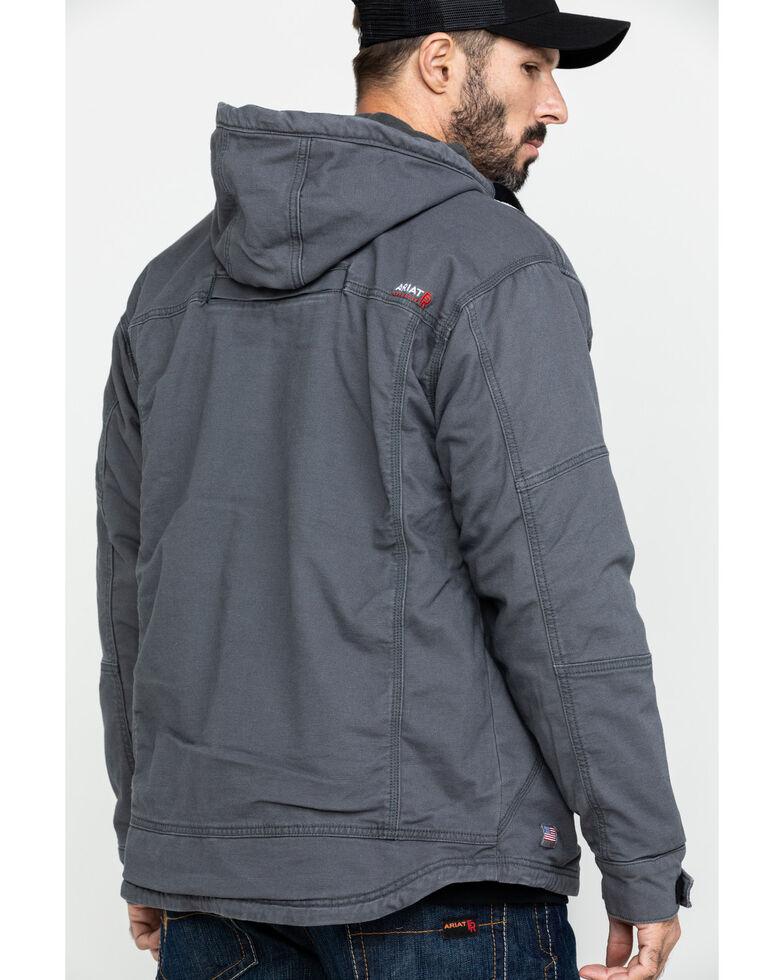 Ariat Men's FR Duralight Stretch Canvas Work Jacket - Big , Grey, hi-res