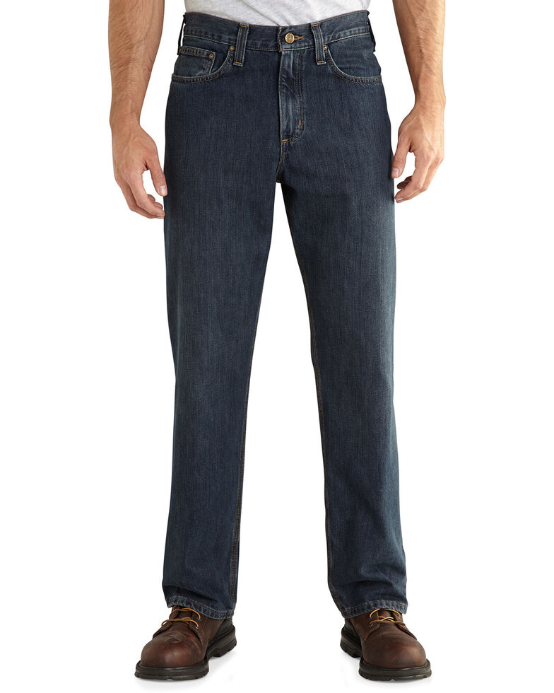 Carhartt Workwear Men's Relaxed Fit Holter Jeans, Med Stone, hi-res