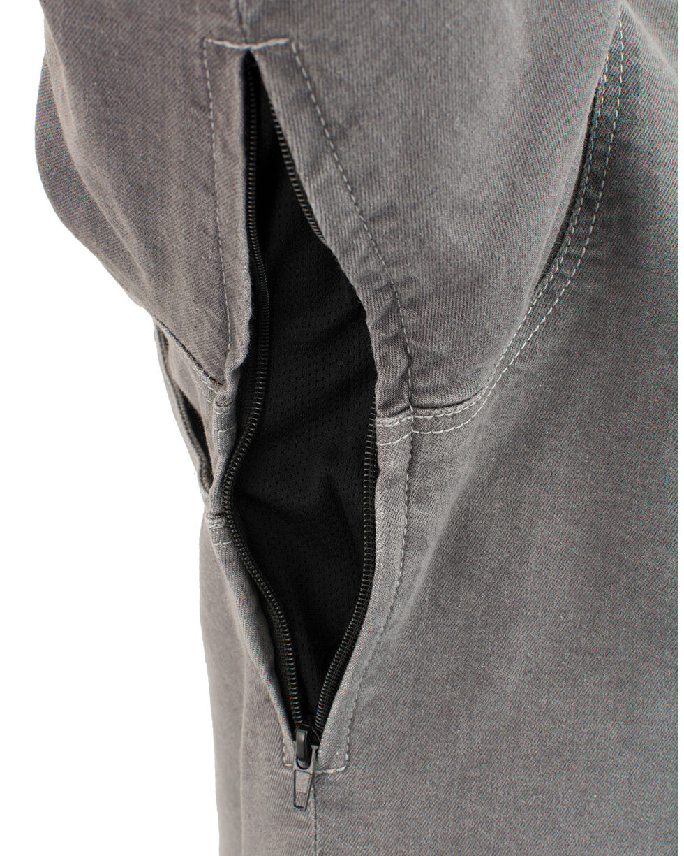 Milwaukee Performance Men's Aramid Reinforced Grey Denim Biker Shirt - Big & Tall, Grey, hi-res