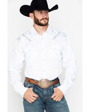Moonshine Spirit Men's Totem Pole Long Sleeve Western Shirt, White, hi-res