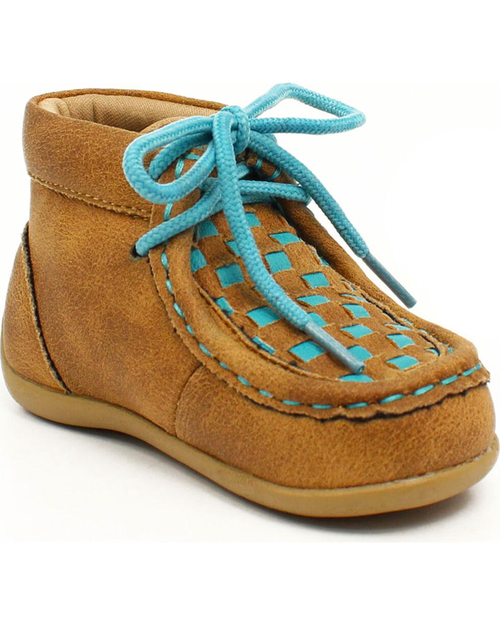 Blazin Roxx Girls' Cassidy Turquoise Casual Shoes - Moc Toe, Brown, hi-res
