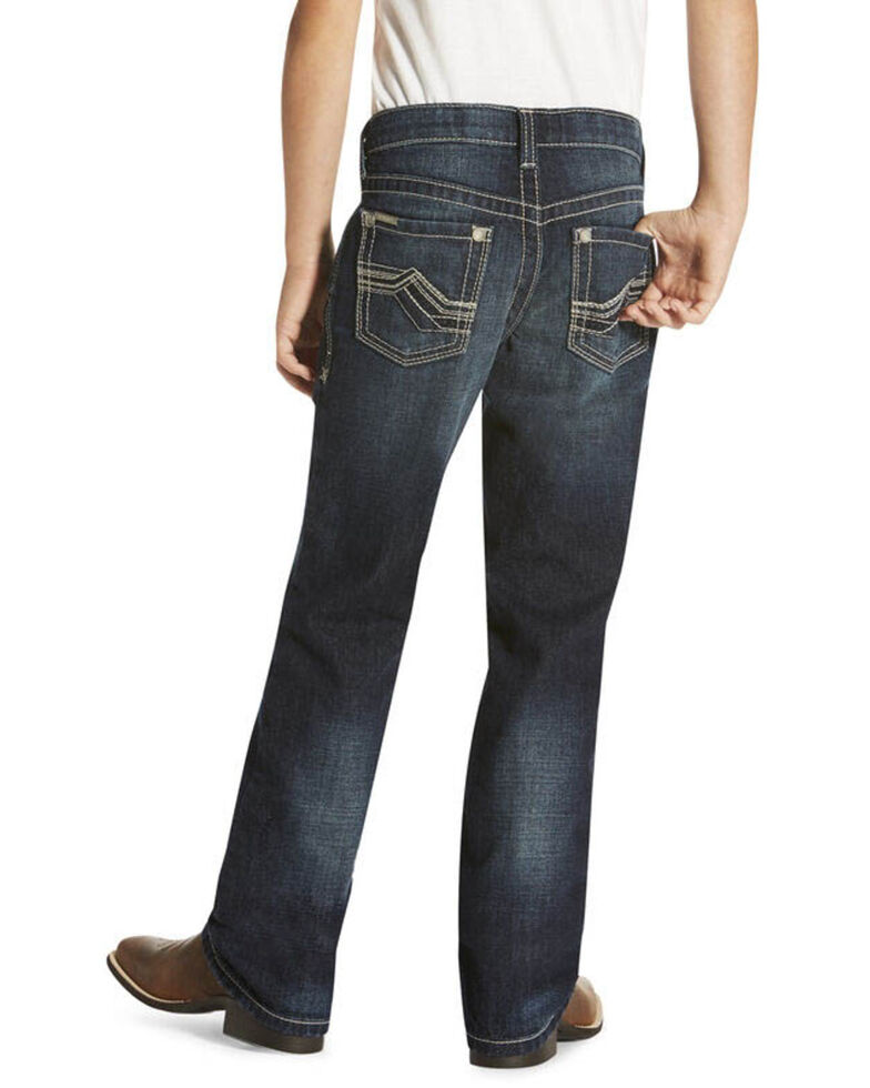 Ariat Boys' B4 Dark Relaxed Boot Cut Jeans , , hi-res