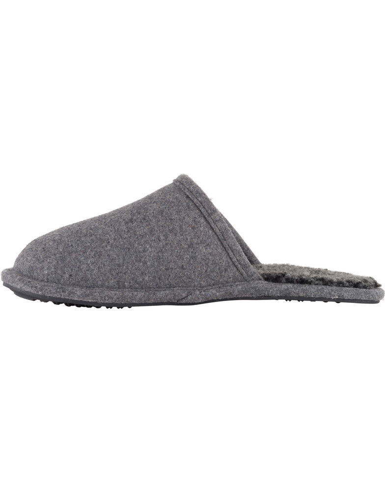 Lamo Men's Landon Wool Scuffs , Charcoal, hi-res
