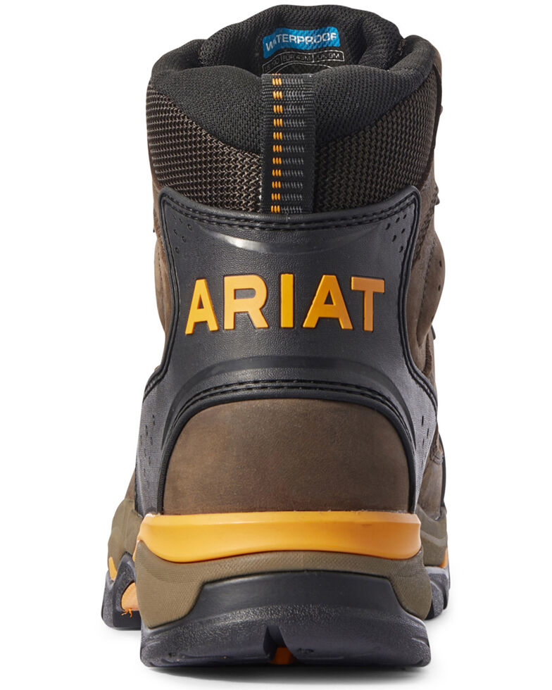 Ariat Men's Endeavor Waterproof Work Boots - Soft Toe, Brown, hi-res