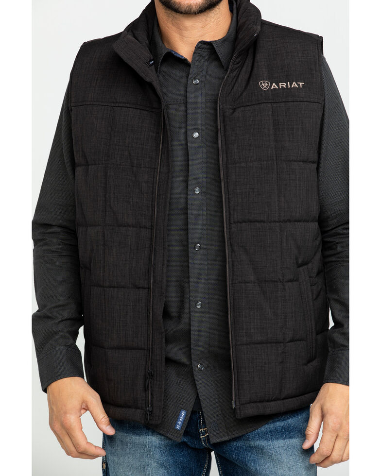 Ariat Men's Crius Zip Front Vest , Brown, hi-res