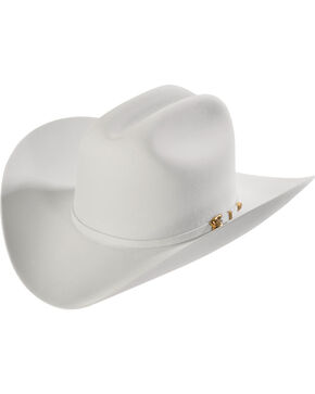 Larry Mahan 8X Los Tigres Del Norte Light Grey Felt Cowboy Hat , Lt Grey, hi-res