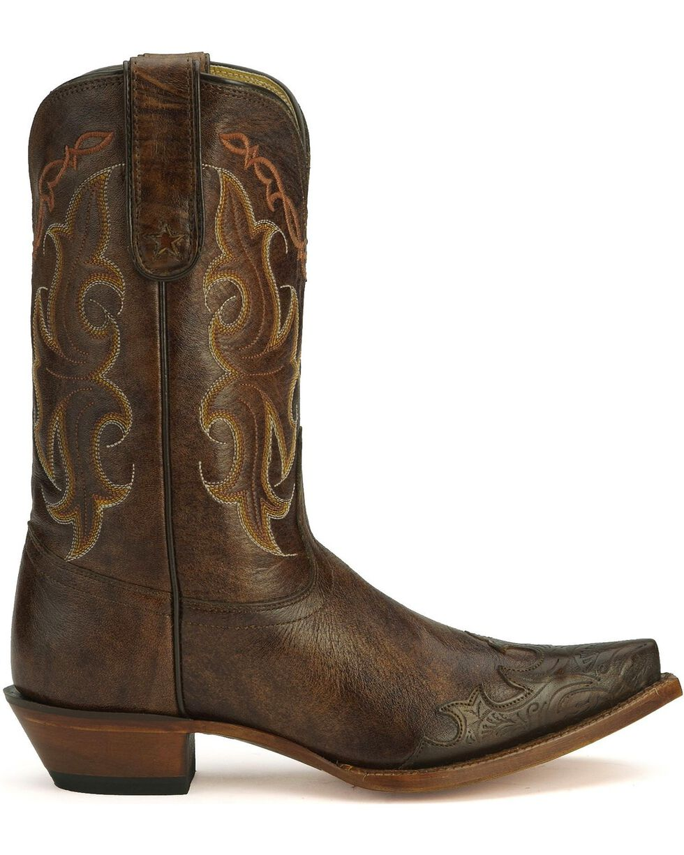 Tony Lama Women's Wingtip Vaquero Collection Western Boots, Clay, hi-res