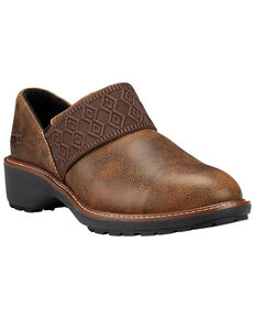 Timberland Women's Roveter Slip-On Work Shoes - Round Toe, Brown, hi-res