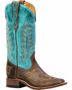 "Boulet Men's 13"" Vintage Square Toe Counter Boots, Brown, hi-res"