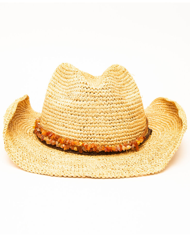 8d304dfdc1210f Zoomed Image San Diego Hat Co. Women's Crochet Raffia Two Strand Bead Hat,  Natural, hi