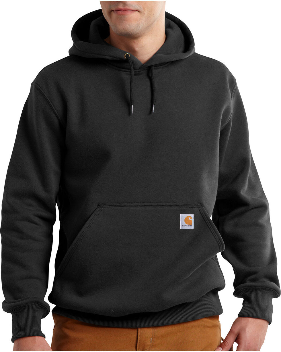 Carhartt Men's Rain Defender Paxton Heavyweight Hooded Sweatshirt, Black, hi-res