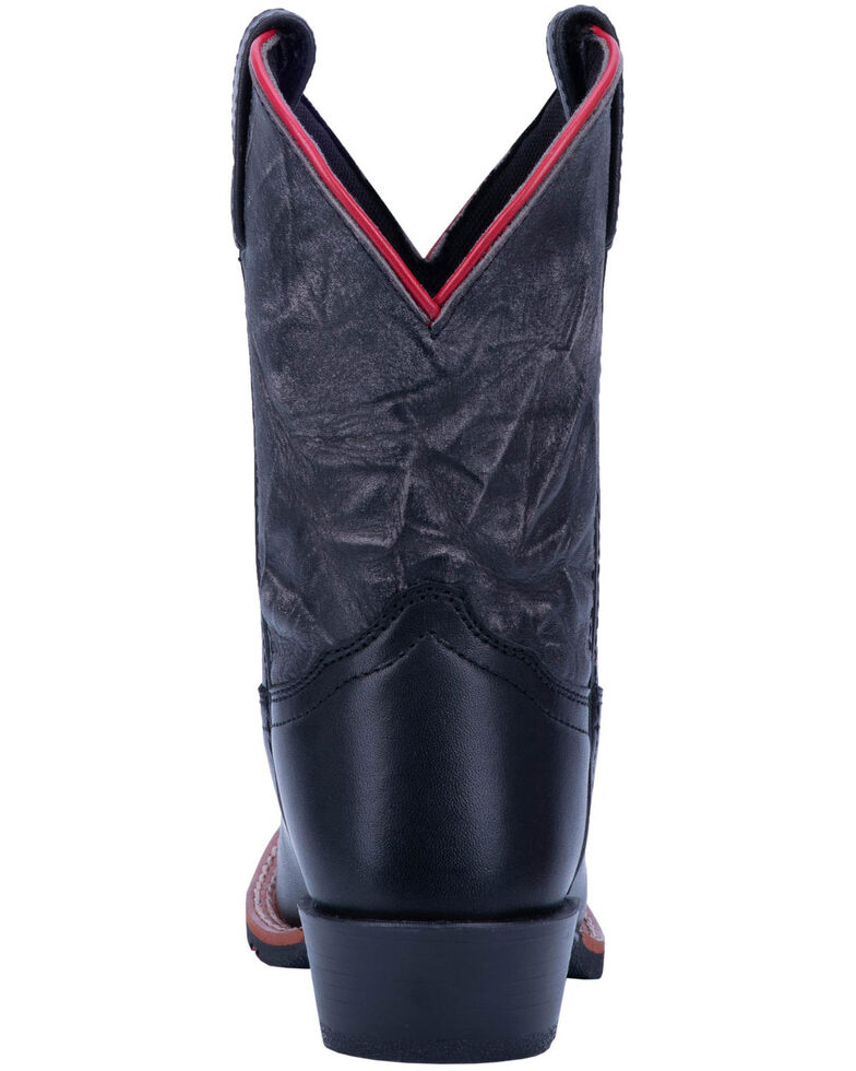 a211a00f4bf Dan Post Boys' Thin Red Line Western Boots - Wide Square Toe