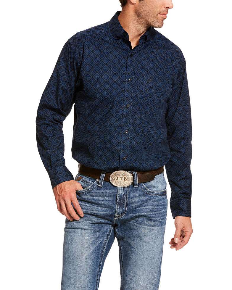Ariat Men's Dalporto Stretch Geo Print Long Sleeve Western Shirt , Multi, hi-res