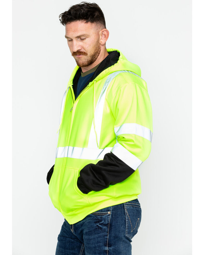 Hawx Men's Soft Shell Visibility Safety Jacket - Big & Tall, Yellow, hi-res
