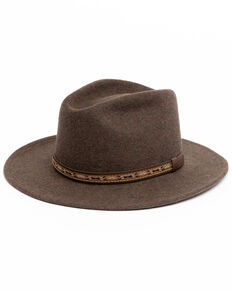 Cody James Men's Heather Brown Mesa Western Wool Hat , Brown, hi-res