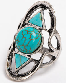 Idyllwind Women's Warrior Turquoise Statement Ring, Turquoise, hi-res