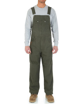 Riggs Workwear Men's Ripstop Bib Overalls, Green, hi-res