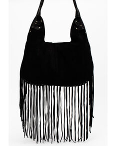 Idyllwind Women's Can't Go Without It Fringe Hobo Bag, Black, hi-res