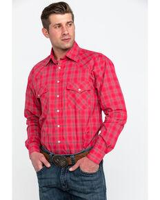 ae23805c Resistol Men's Connemara Med Plaid Long Sleeve Western Shirt